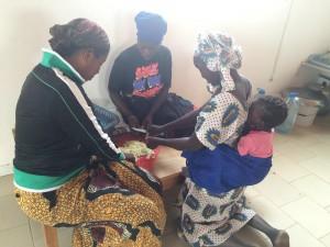 Mulheres preparando
